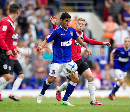 01.09.2012. Ipswich, England. Massimo Luongo  in action during the FA Championship game between Ipswich Town and Huddersfield Town from Portman Road