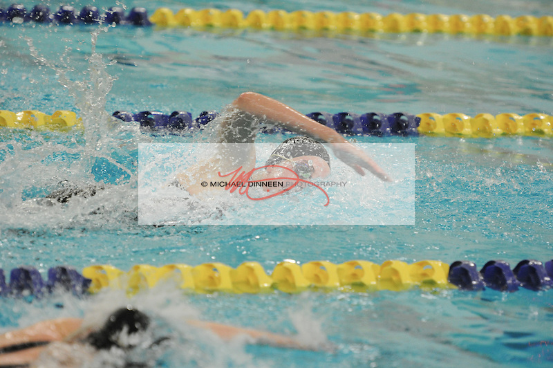Chugiak's Izzy Powers in the 100 Freestyle at Bartlett High Saturday, Oct. 29, 2016.  Photo for the Star by Michael DInneen