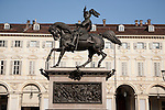 Monument to Manuel Filiberto in St Carlo Square in Turin - Torino, Italy