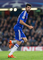 Diego Costa of Chelsea in action during the UEFA Champions League Group G match between Chelsea and Dynamo Kyiv at Stamford Bridge, London, England on 4 November 2015. Photo by Andy Rowland.