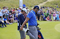 Jon Rahm (ESP) stretches at the 14th green during Thursday's Round 1 of the Dubai Duty Free Irish Open 2019, held at Lahinch Golf Club, Lahinch, Ireland. 4th July 2019.<br /> Picture: Eoin Clarke | Golffile<br /> <br /> <br /> All photos usage must carry mandatory copyright credit (© Golffile | Eoin Clarke)