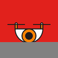 Abstract eye on red background ExclusiveImage ExclusiveArtist ExclusiveArtist