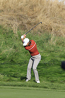Tommy Fleetwood (Team Europe) plays his 2nd shot on the 13th hole during Saturday's Foursomes Matches at the 2018 Ryder Cup 2018, Le Golf National, Ile-de-France, France. 29/09/2018.<br /> Picture Eoin Clarke / Golffile.ie<br /> <br /> All photo usage must carry mandatory copyright credit (&copy; Golffile | Eoin Clarke)