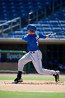 Toronto Blue Jays left fielder Griffin Conine (17) follows through on a swing during a Florida Instructional League game against the Philadelphia Phillies on September 24, 2018 at Spectrum Field in Clearwater, Florida.  (Mike Janes/Four Seam Images)