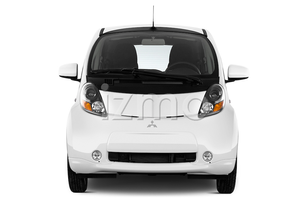 Car photography straight front view of a 2016 Mitsubishi iMiEV 5 Door Micro Car Front View