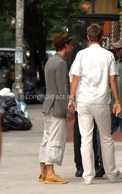 WWW.ACEPIXS.COM ** ** ** ....July 25, 2006, New York City. ....Jude Law sighting in New York after leaving the set of 'My Blueberry Nights'. ..........Please byline: Philip Vaughan -- ACEPIXS.COM.. *** ***  ..Ace Pictures, Inc:  ..Philip Vaughan (212) 243-8787 or (646) 769 0430..e-mail: info@acepixs.com..web: http://www.acepixs.com