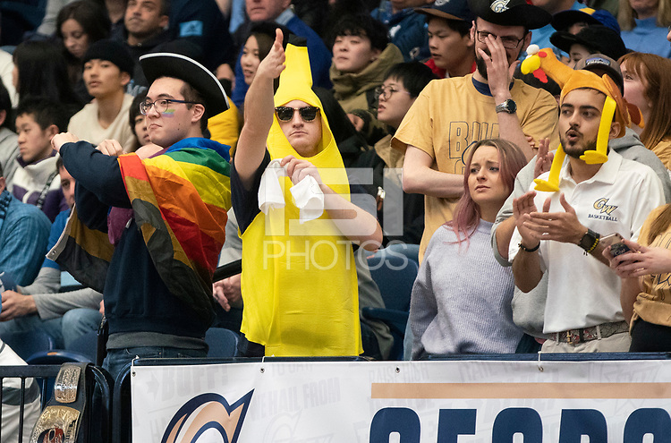 WASHINGTON, DC - FEBRUARY 8: Fans in the student section during a game between Rhode Island and George Washington at Charles E Smith Center on February 8, 2020 in Washington, DC.