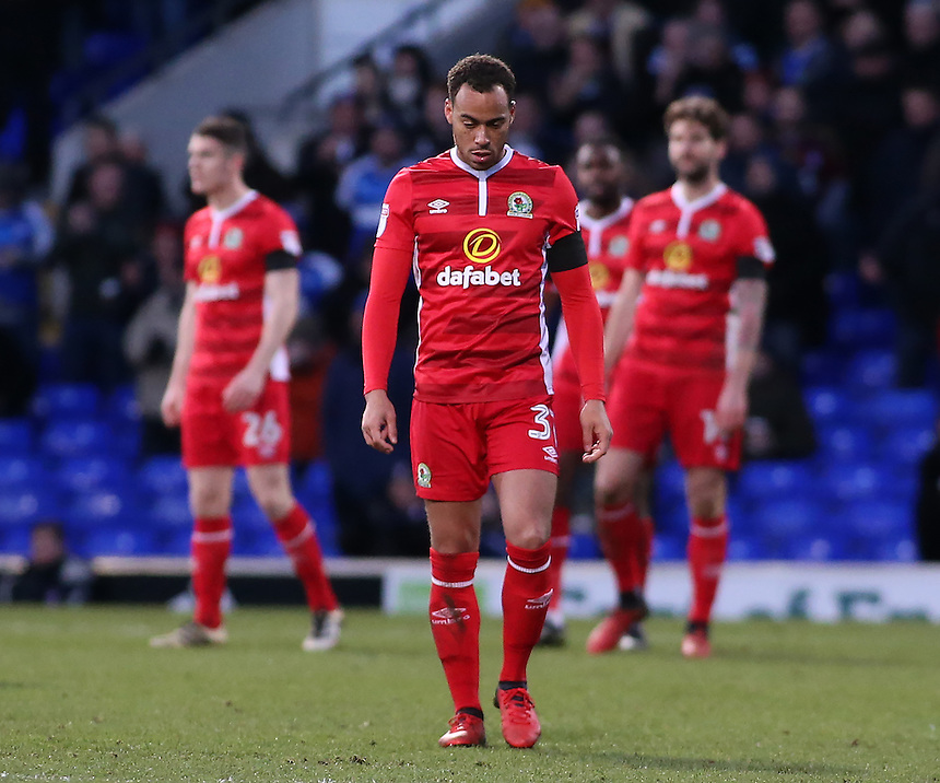 The Blackburn Rovers show their dejection after going 2-1 behind<br /> <br /> Photographer David Shipman/CameraSport<br /> <br /> The EFL Sky Bet Championship - Ipswich Town v Blackburn Rovers - Saturday 14th January 2017 - Portman Road - Ipswich<br /> <br /> World Copyright &copy; 2017 CameraSport. All rights reserved. 43 Linden Ave. Countesthorpe. Leicester. England. LE8 5PG - Tel: +44 (0) 116 277 4147 - admin@camerasport.com - www.camerasport.com
