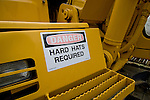 Danger sign;hard hats required