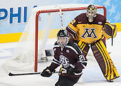 Mike Vecchione (Union - 21), Adam Wilcox (MN - 32) - The Union College Dutchmen defeated the University of Minnesota Golden Gophers 7-4 to win the 2014 NCAA D1 men's national championship on Saturday, April 12, 2014, at the Wells Fargo Center in Philadelphia, Pennsylvania.