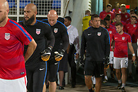 Couva, Trinidad & Tobago - Tuesday Oct. 10, 2017:  USMNT during a 2018 FIFA World Cup Qualifier between the men's national teams of the United States (USA) and Trinidad & Tobago (TRI) at Ato Boldon Stadium.