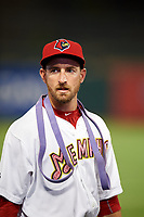 Memphis Redbirds pitcher Ryan Sherriff (72) after a game against the Round Rock Express on April 28, 2017 at AutoZone Park in Memphis, Tennessee.  Memphis defeated Round Rock 9-1.  (Mike Janes/Four Seam Images)