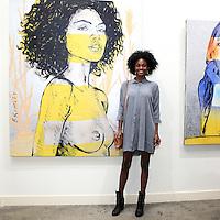 SANTA MONICA - JUN 25: Milan Dixon at the David Bromley LA Women Art Exhibition opening reception at the Andrew Weiss Gallery on June 25, 2016 in Santa Monica, California