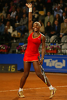 Roma 17 Maggio 2002<br /> Tennis Master Roma<br /> Sanex Wta Tour<br /> Quarti di finale<br /> Serena Williams<br /> Roma Tennis Internazionali d'Italia 2002<br /> Foto Andrea Staccioli/Insidefoto