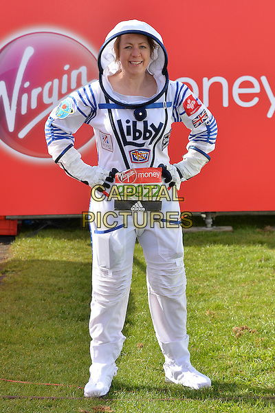 LONDON, ENGLAND - APRIL 24   Libby Jackson at the start of the 2016 Virgin Money London Marathon on Blackheath in London, England. 24th April 2016.<br /> CAP/JWP<br /> &copy;JWP/Capital Pictures