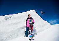 Pro snowboarder Silvia Mittermuerller at Breckenridge Ski Resort in Breckenridge, Colorado, Wednesday March 21, 2012...Photo by Matt Nager