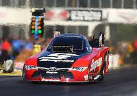 May 13, 2016; Commerce, GA, USA; NHRA funny car driver Cruz Pedregon during qualifying for the Southern Nationals at Atlanta Dragway. Mandatory Credit: Mark J. Rebilas-USA TODAY Sports