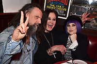 """HOLLYWOOD - FEBRUARY 20: Rob Zombie and Kelly Osbourne attend Ozzy Osbourne global tattoo and album listening party to celebrate his new album """"Ordinary Man"""" on February 20, 2020 in Hollywood, California. (Photo by Lionel Hahn/Epic Records/PictureGroup)"""