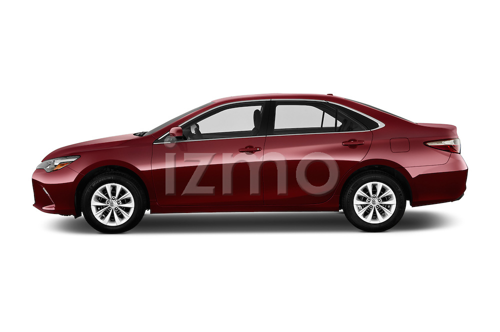 Car Driver side profile view of a 2017 Toyota Camry 2.5-Auto-LE 4 Door Sedan Side View