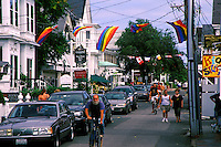 Tourists on Commerce Street, Provincetown, Cape Cod, MA<br />