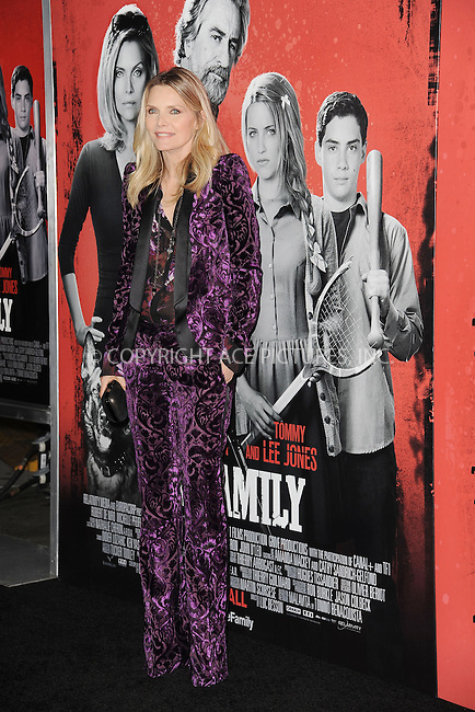 WWW.ACEPIXS.COM<br /> September 10, 2013 New York City<br /> <br /> Michelle Pfeiffer attending the World Premiere of &quot;The Family&quot; in New York City on September 10, 2013. <br /> By Line: Kristin Callahan/ACE Pictures<br /> <br /> ACE Pictures, Inc.<br /> tel: 646 769 0430<br /> Email: info@acepixs.com<br /> www.acepixs.com<br /> Copyright:<br /> Kristin Callahan/ACE Pictures