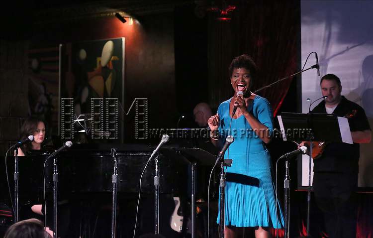 Georgia Stitt and La Chanze performing at The Lilly Awards Broadway Cabaret at the Cutting Room on October 17, 2016 in New York City.