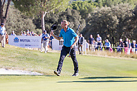Marcel Siem (GER) on the 18th during the third round of the Mutuactivos Open de Espana, Club de Campo Villa de Madrid, Madrid, Madrid, Spain. 05/10/2019.<br /> Picture Hugo Alcalde / Golffile.ie<br /> <br /> All photo usage must carry mandatory copyright credit (© Golffile | Hugo Alcalde)