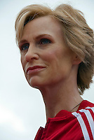 Jane Lynch Immortalized in Wax, Los Angeles, CA, Wax Figure, At Madame Tussauds, Hollywood, CA ,Vertical image