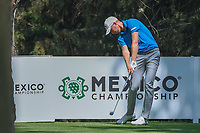 Daniel Berger (USA) watches his tee shot on 16 during the preview of the World Golf Championships, Mexico, Club De Golf Chapultepec, Mexico City, Mexico. 2/28/2018.<br /> Picture: Golffile | Ken Murray<br /> <br /> <br /> All photo usage must carry mandatory copyright credit (&copy; Golffile | Ken Murray)