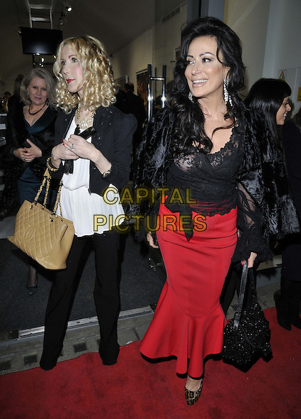 LONDON, ENGLAND - NOVEMBER 27: Basia Briggs &amp; Nancy Dell'Olio attend the &quot;Mikhail Baryshnikov: Dancing Away&quot; photography collection private view, Contini Art UK, New Bond St., on Thursday November 27, 2014 in London, England, UK. <br /> CAP/CAN<br /> &copy;Can Nguyen/Capital Pictures