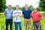 Keel golfers James Long Danny Evans Donal Murphy and Martin Smith at the St Mary of the Angels golf classic in Killarney Golf and Fishing club on Friday