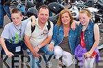BIKE FEST: Enjoying the Harley Davison Bike Fest in Killarney on Saturday l-r: Ricky, Oliver, Eileen and Kelsey Mullane.
