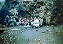 Turkey 1993.Djoudi, a group of PKK's fighters  Turquie 1993 A Djoudi, des combattants, garcons et filles, du PKK