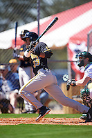 Iowa Hawkeyes center fielder Joel Booker (23) at bat during a game against the Dartmouth Big Green on February 27, 2016 at South Charlotte Regional Park in Punta Gorda, Florida.  Iowa defeated Dartmouth 4-1.  (Mike Janes/Four Seam Images)