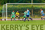 Killarneys Athletic defend another Rathkeale attack in the Munster Junior Cup Final on Sunday.