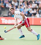 AMSTELVEEN - Henry Weir (Eng) during the poulematch England v Germany (men) 3-4,Rabo Eurohockey Championships 2017.  WSP COPYRIGHT KOEN SUYK