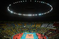 SÃO PAULO,SP, 29.06.2017 – BRASIL-POLÔNIA – Jogadoras do Brasil durante partida contra a Polônia, amistoso internacional de vôlei feminino realizado no Ginásio do Ibirapuera em São Paulo, na noite desta quinta-feira, 29. (Foto: Levi Bianco / Brazil Photo Press)
