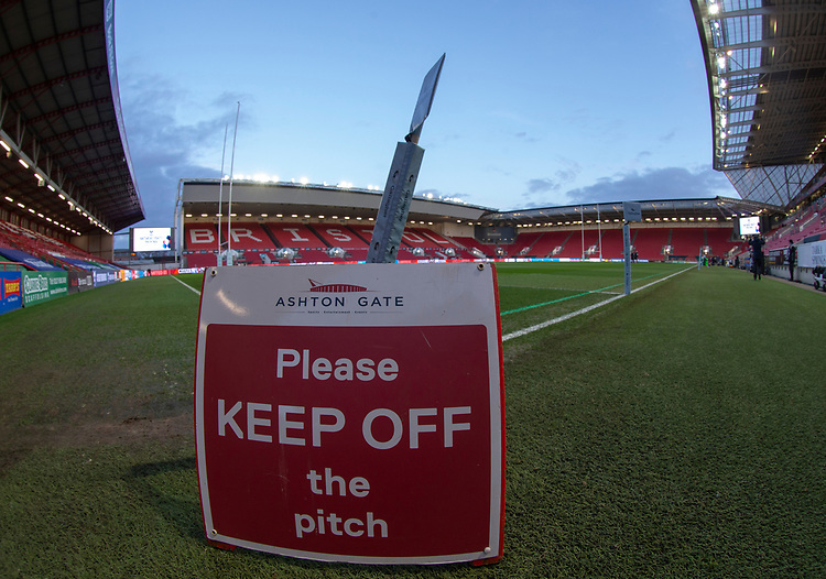 A general view of Ashton Gate, home of Bristol Bears<br /> <br /> Photographer Bob Bradford/CameraSport<br /> <br /> Gallagher Premiership - Bristol Bears v Gloucester Rugby - Friday 1st March 2019 - Ashton Gate - Bristol<br /> <br /> World Copyright © 2019 CameraSport. All rights reserved. 43 Linden Ave. Countesthorpe. Leicester. England. LE8 5PG - Tel: +44 (0) 116 277 4147 - admin@camerasport.com - www.camerasport.com