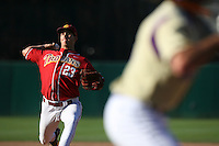 Jeff Grijalva of the USC Trojans during game against the  Western Carolina Catamounts at Dedeaux Field in Los Angeles,CA.  Photo by Larry Goren/Four Seam Images