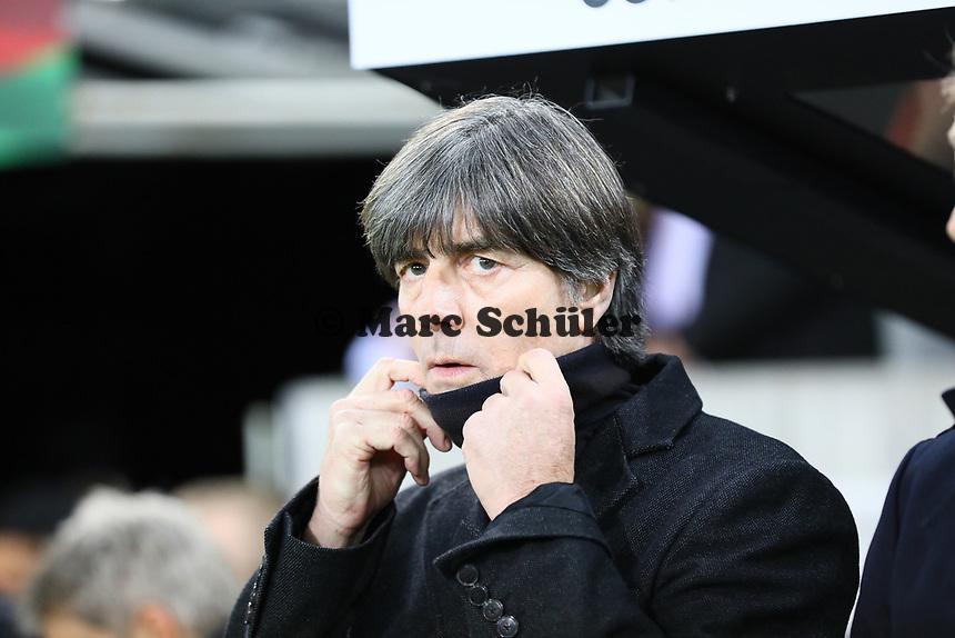 Bundestrainer Joachim Loew (Deutschland Germany) - 16.11.2019: Deutschland vs. Weißrussland, Borussia Park Mönchengladbach, EM-Qualifikation DISCLAIMER: DFB regulations prohibit any use of photographs as image sequences and/or quasi-video.