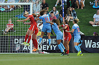 Boyds, MD -Saturday August 26, 2017: Alyssa Kleiner, Sofia Huerta, Casey Short, Meggie Dougherty Howard, Kristie Mewis during a regular season National Women's Soccer League (NWSL) match between the Washington Spirit and the Chicago Red Stars at Maureen Hendricks Field, Maryland SoccerPlex.