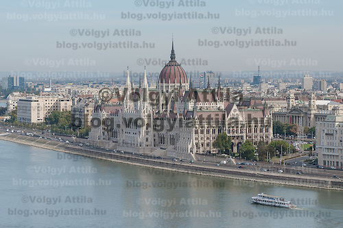 House of the Hungarian Parliament on the Pest side of river Danube part of the world heritage located in Budapest, Hungary on September 29, 2011. ATTILA VOLGYI