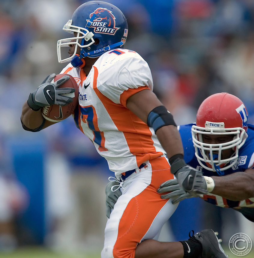 Ruston, LA. Boise State vs. Louisana Tech in Joe Aillet Stadium. The Broncos defeated the Bulldogs 30-13