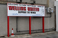General view of the entrance to Welling United FC during Welling United vs Charlton Athletic, Friendly Match Football at the Park View Road Ground on 13th July 2019