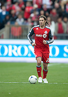 21 April 2012: Toronto FC midfielder Torsten Frings #22 in action during a game between the Chicago Fire and Toronto FC at BMO Field in Toronto..The Chicago Fire won 3-2....