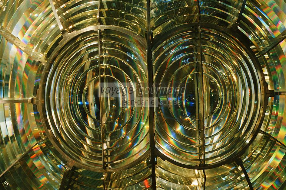 Europe/France/Bretagne/29/Finistère/Ile d'Ouessant: Le phare du créac'h - Musée des phares et balises - Détail de lanterne