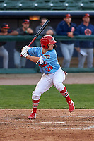Peoria Chiefs first baseman Josh Shaw (29) during a Midwest League game against the Bowling Green Hot Rods at Dozer Park on May 5, 2019 in Peoria, Illinois. Peoria defeated Bowling Green 11-3. (Zachary Lucy/Four Seam Images)