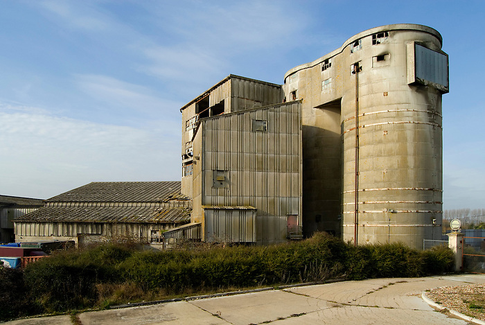 Part of a cement factory, now closed, at Upper Beeding. Sussex, England.