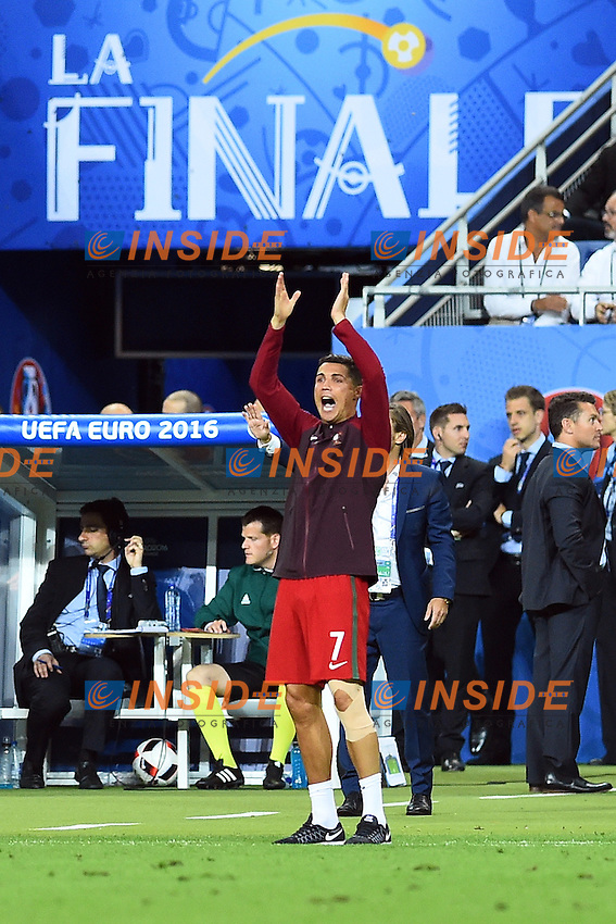 Esultanza fine gara Cristiano Ronaldo (Portugal) celebration end of match<br /> Paris 10-07-2016 Stade de France Football Euro2016 Portugal - France / Portogallo - Francia Finale / Final<br /> Foto Massimo Insabato / Insidefoto