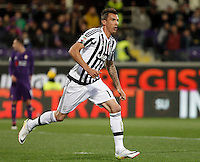 Calcio, Serie A: Fiorentina vs Juventus. Firenze, stadio Artemio Franchi, 24 aprile 2016.<br /> Juventus&rsquo; Mario Mandzukic reacts after scoring during the Italian Serie A football match between Fiorentina and Juventus at Florence's Artemio Franchi stadium, 24 April 2016. <br /> UPDATE IMAGES PRESS/Isabella Bonotto